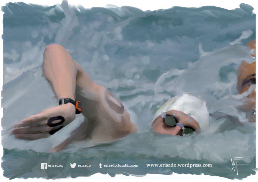 nadador-arte-digital-erisado