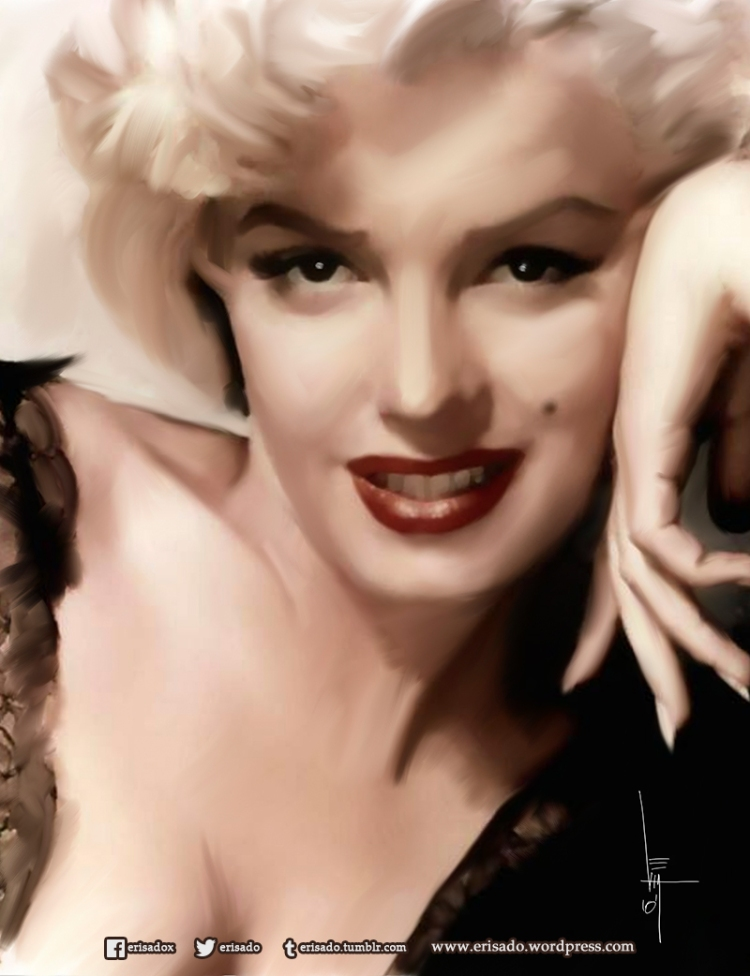 Marilyn-Monroe-digital-art-erisado
