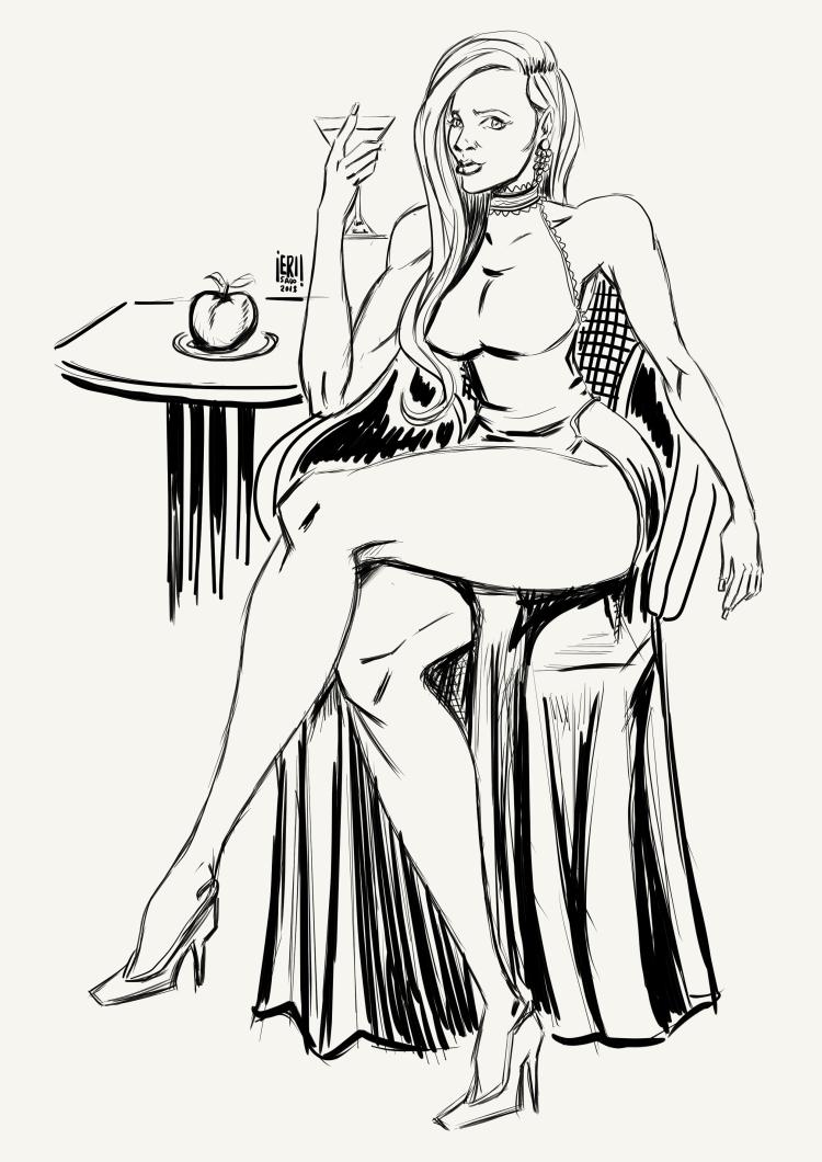 sitting woman 3